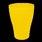 Набор стаканов 6 штук по 0,25 литра темно-желтого цвета