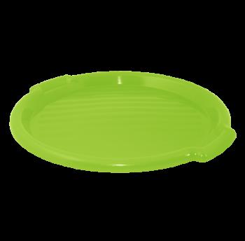 Поднос круглый пластиковый 38,9х2,5 см салатовый