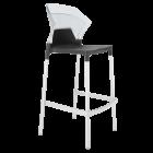 Барний стілець Papatya Ego-S антрацит сидіння, верх прозоро-чистий