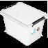 Бокс прямоугольный Orplast 19 л с крышкой клипсами прозрачный