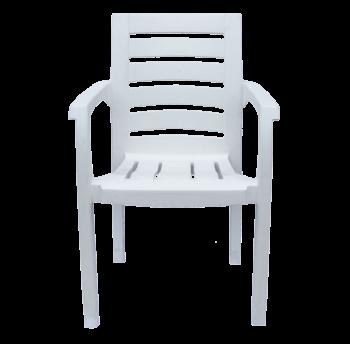 Кресло пластиковое Жимолость белое