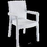 Кресло Irak Plastik Markiz под ротанг белый