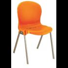 Стул с металлическими ножками 980 NР оранжевый