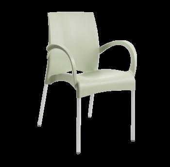 Крісло Papatya Vital-K зелений, база алюміній