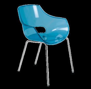 Крісло Papatya Opal прозоро-синє