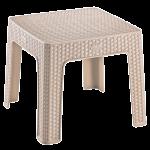 Столик для кофе под ротанг Irak Plastik 45x45 капучино