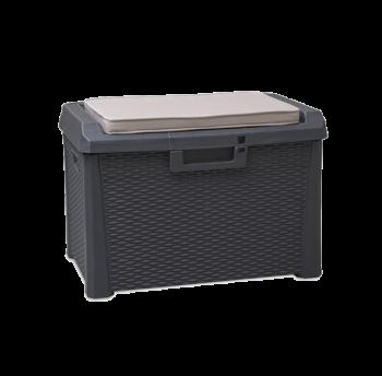 Сундук пластиковый Santorini Plus 125 л антрацит с подушкой Toomax