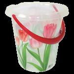 Ведро декорированное 12 л тюльпан