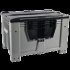 Контейнер Kayalarplastik KSK 1280-80 510 л с откидной стенкой без колес серый