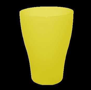 Набор стаканов 6 штук по 0,25 литра прозрачно-желтого цвета