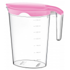 Кувшин Irak Plastik Pinar 2 л розовый прозрачный