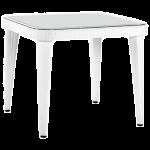 Стол Tilia Osaka 90x90 см столешница из стекла, ножки пластиковые белая слоновая кость