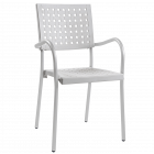 Кресло Papatya Karea белое, база алюминий