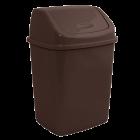 Ведро для мусора 5л с крышкой темно-коричневое