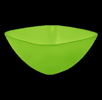 Салатница пластиковая 0,25л прозрачно-салатовая