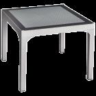 Стол квадратный Irak Plastik Comfort 90x90 под ротанг серый