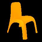 Стілець дитячий пластиковий світло-помаранчевий