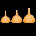 Воронка набор 3 шт оранжевая