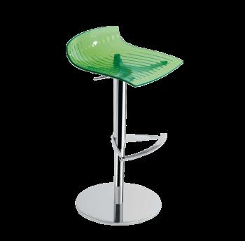 Барное кресло Papatya X-Treme B прозрачно-зеленый