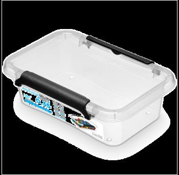Бокс прямоугольный Orplast 0,35 л с крышкой клипсами прозрачный