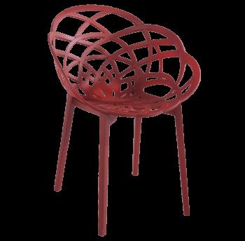 Крісло Papatya Flora матовий червона цегла сидіння, ніжки матовий цегла