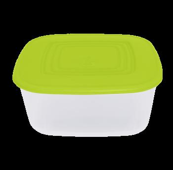 Контейнер пищевой 3 л верх оливковый, низ прозрачный