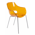 Крісло Papatya Opal прозоро-помаранчеве