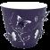 Горшок для цветов 3D 1,4 л тёмно-фиолетовый
