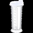 Бутылка для масла / уксуса 0,75 л белая прозрачная