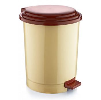 Відро для сміття з педаллю Irak Plastik №4 35л бежеве