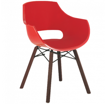 Кресло Papatya Opal Wox Iroko красное