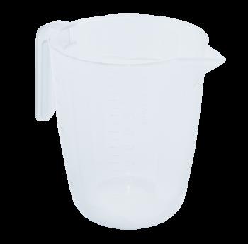 Стакан мерный пластиковый на 1 л прозрачный