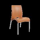 Стул Papatya Vital-S оранжевый 16 алюминиевые ножки