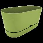 Горщик для квітів балконний Begonya 5,5 л зелений