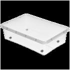 Бокс прямоугольный Orplast 29 л с крышкой колесами прозрачный
