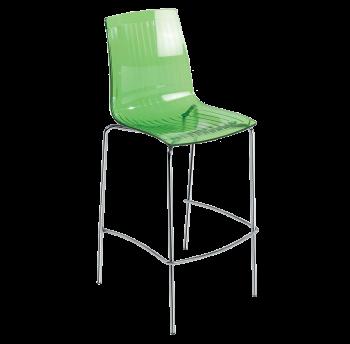 Барный стул Papatya X-Treme BSL прозрачно-зеленый