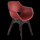 Кресло Papatya Opal-Wox матовый красный кирпич, рама лакированный бук венге