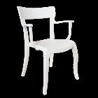 Крісло Papatya Hera-K біле сидіння, верх білий