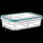 Контейнер Fresh Box 2 отсека 0,5 л + 0,5 л прозрачный
