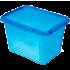 Бокс прямоугольный Orplast 19 л с крышкой клипсами голубой