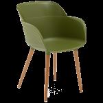 Крісло Tilia Shell-N ніжки букові хакі