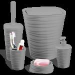Набор для ванной комнаты Planet Welle 5 предметов серый