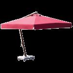 Зонт Banana Classic квадратный 3 x 3 м красный рама коричневая