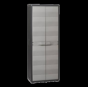 Шафа 2-дверна з поличками Elegance S Toomax чорна сіра