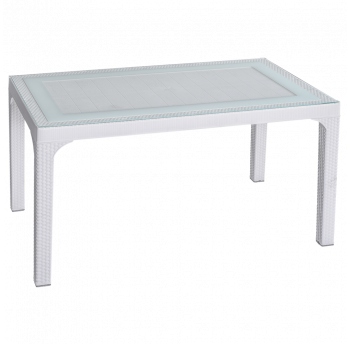 Стол под ротанг Irak Plastik 80x140 белый