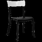 Стул Papatya Hera-S черное сиденье, верх белый