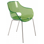 Крісло Papatya Opal прозоро-зелене