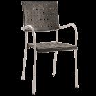 Кресло Papatya Karea черный, база алюминий