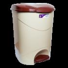 Відро для сміття з педаллю Irak Plastik Bella №3 30л бежеве