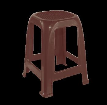 Табурет пластиковый Пиф темно-коричневый